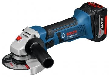 Bosch Professional GWS 18 V-LI  4 Ah Çift Akülü Taşlama - L-boxx Çantalı