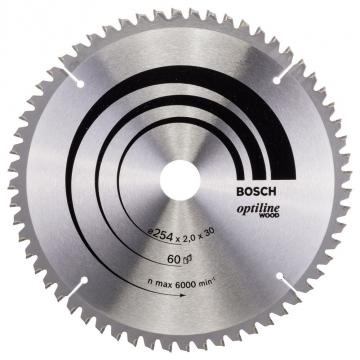 Bosch Optiline Wood 254*30 mm 60 Diş