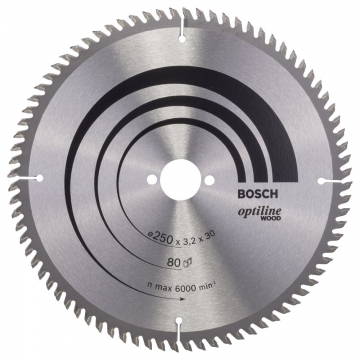 Bosch Optiline Wood 250*30 mm 80 Diş