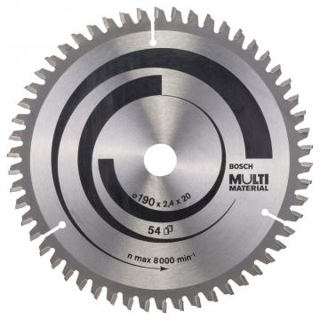 Bosch MultiMaterial 190*20/16 mm 54 Diş