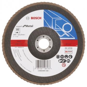 Bosch 180 mm 80 K Expert for Metal Flap Disk