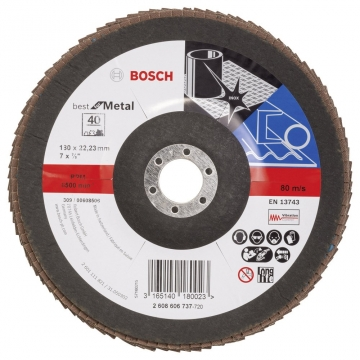 Bosch 180 mm 40 K Best for Metal Flap Disk