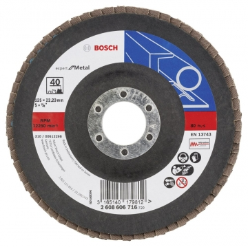 Bosch 125 mm 40 K Expert for Metal Flap Disk