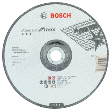 Bosch 230*1,9 mm Standard for Inox
