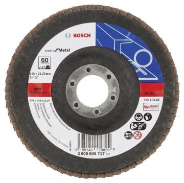 Bosch 125 mm 60 K Expert for Metal Flap Disk