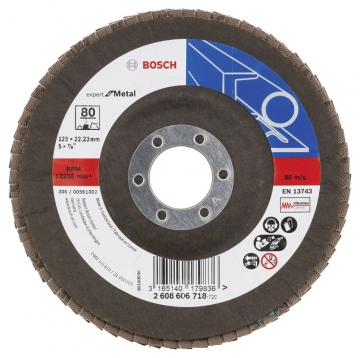 Bosch 125 mm 80 K Expert for Metal Flap Disk