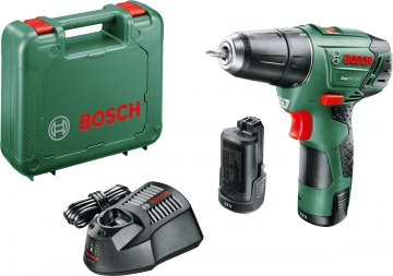 Bosch Easy Drill 12-2 Akülü Delme/Vidalama Makinesi 2,5 AH (Çift Akü)