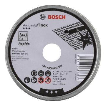 Bosch 115*1,0mm İnox kesici taş Rapido 10\'lu paket