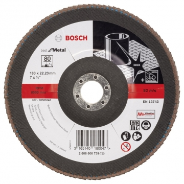 Bosch 180 mm 80 K Best for Metal Flap Disk