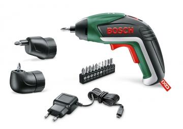 Bosch  IXO Akülü Vidalama Makinesi + Köşe + Eksantrik Adaptör
