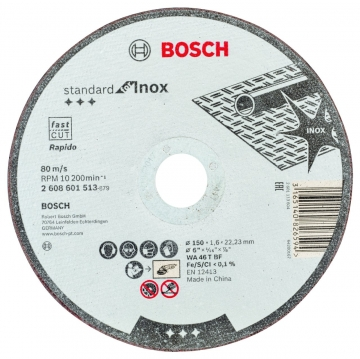 Bosch 150*1,6 mm Standard for Inox Rapido