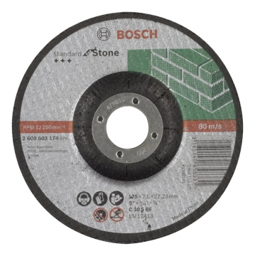 Bosch 125*2,5 mm Standard for Stone Bombeli