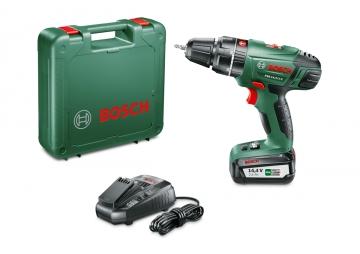 Bosch PSB 14,4 LI-2 Tek Akü 2,5 Ah Akülü Darbeli Delme/Vidalama Makinesi
