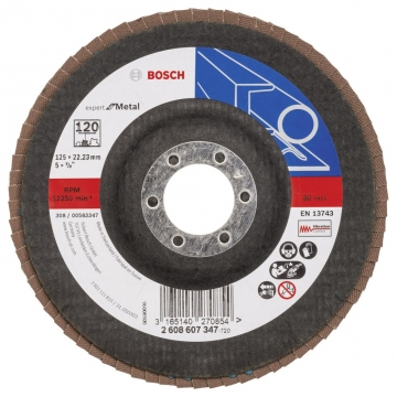 Bosch 125 mm 120 K Expert for Metal Flap Disk