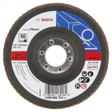 Bosch 115 mm 60 K Expert for Metal Flap Disk