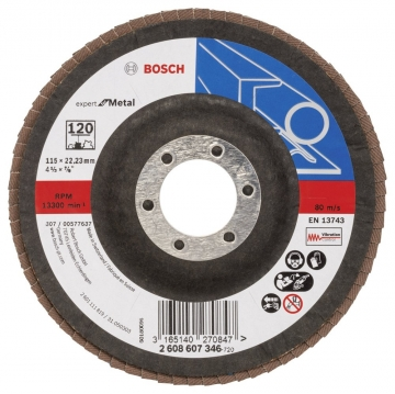 Bosch 115 mm 120 K Expert for Metal Flap Disk