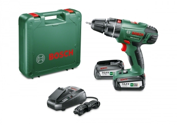Bosch PSB 14,4 LI-2 Çift Akü 2,5 Ah Akülü Darbeli Vidalama/Delme Makinesi