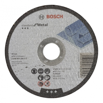Bosch 125*2,5 mm Standard for Metal Düz
