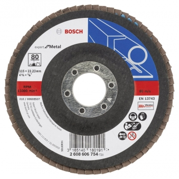 Bosch 115 mm 80 K Expert for Metal Flap Disk