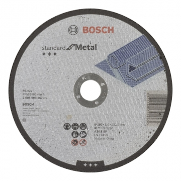 Bosch 180*3,0 mm Standard for Metal Düz