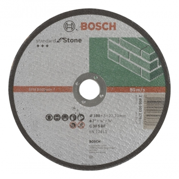 Bosch 180*3,0 mm Standard for Stone Düz