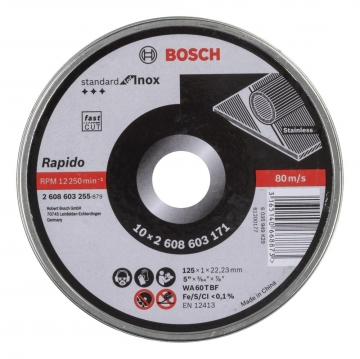 Bosch 125*1,0mm Standard for Inox Rapido 10\'lu