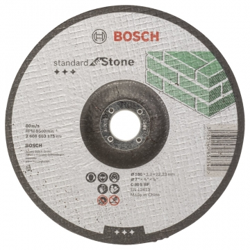 Bosch 180*3,0 mm Standard for Stone Bombeli