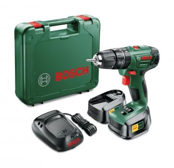 Bosch PSB 1800 LI-2  1,5 AH Akülü Darbeli Delme/Vidalama Makinesi (Çift Akü)