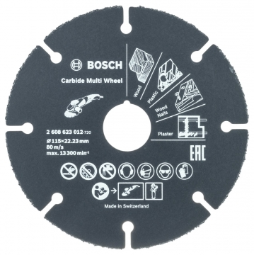 Bosch Carbide Multi Wheel 115 mm