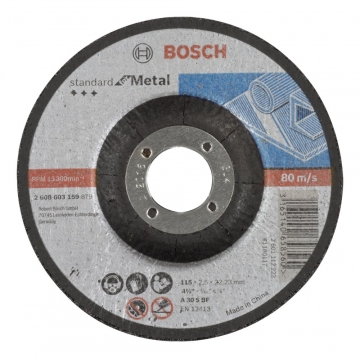 Bosch 115*2,5 mm Standard for Metal Bombeli