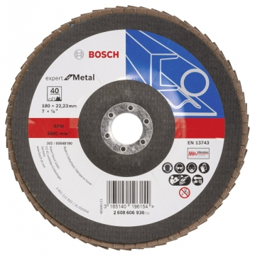 Bosch 180 mm 40 K Expert for Metal Flap Disk