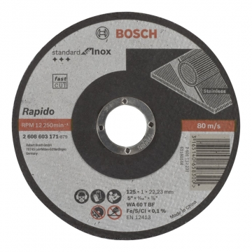 Bosch 125*1,0 mm Standard for Inox Rapido