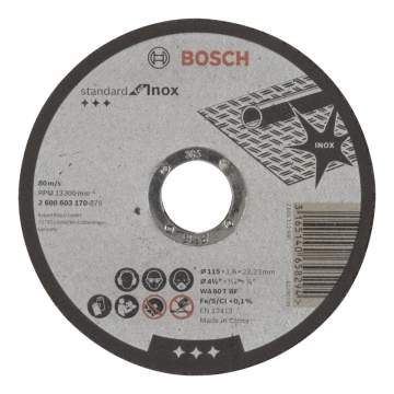 Bosch 115*1,6 mm Standard for Inox