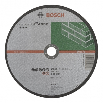 Bosch 230*3,0 mm Standard for Stone Düz