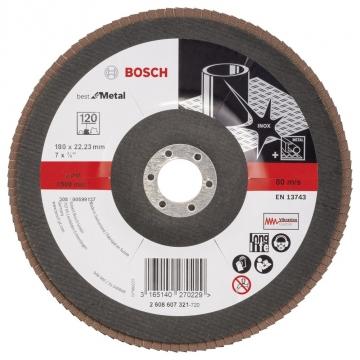 Bosch 180 mm 120 K Best for Metal Flap Disk