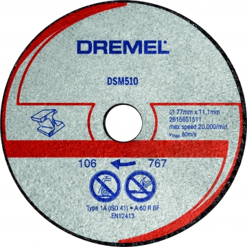 DREMEL® DSM20 metal ve plastik kesme diski (DSM510)