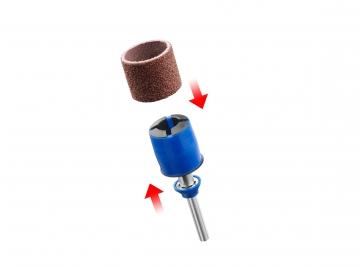 DREMEL® EZ SpeedClic: zımparalama mandreni ve zımparalama bandı (SC407)