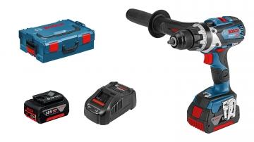Bosch Professional GSR 18 V-85 C 5 Ah Çift Akülü Delme/Vidalama - L-boxx Çantalı