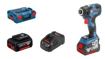 Bosch Professional GDR 18V-200 C 5 Ah Çift Akülü Darbeli Somun Sıkma - L-boxx Çantalı