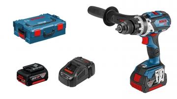 Bosch Professional GSB 18V-85 C 5 Ah Çift Akülü Darbeli Delme/Vidalama - L-boxx Çantalı