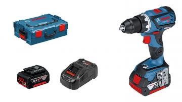Bosch Professional GSR 18V-60 C 5 Ah Çift Akülü Delme/Vidalama - L-boxx Çantalı