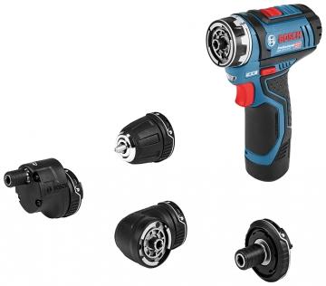 Bosch Professional GSR 12V-15 FC Set 2 Ah Çift Akülü Delme/Vidalama - Çanta + 3 adaptör